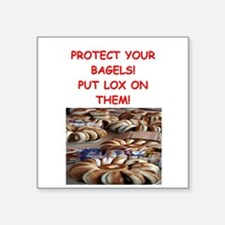 "bagels and lox Square Sticker 3"" x 3"""