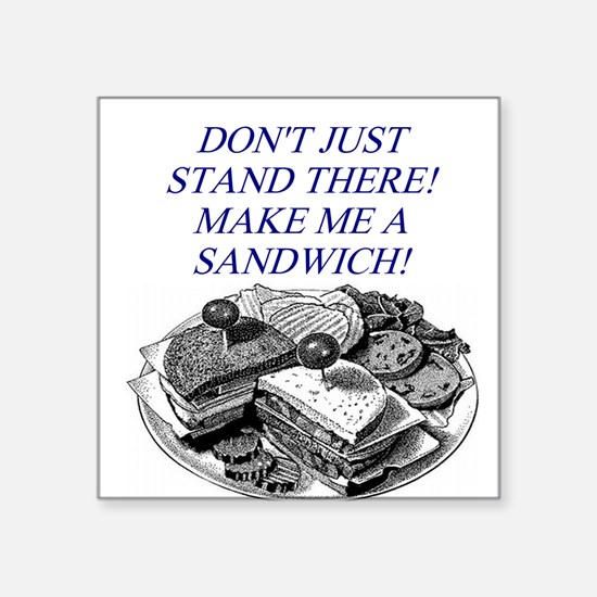 "SANDWICH.png Square Sticker 3"" x 3"""