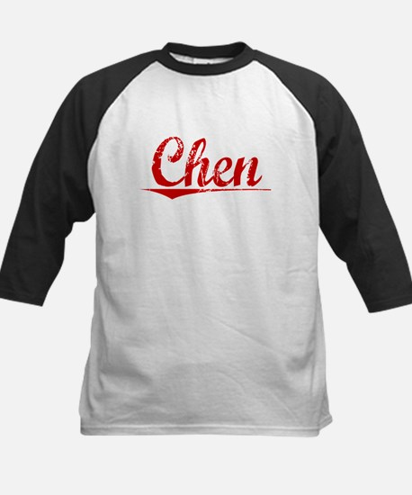 Chen, Vintage Red Kids Baseball Jersey