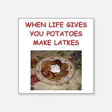 "latke joke Square Sticker 3"" x 3"""