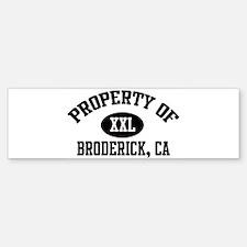 Property of BRODERICK Bumper Bumper Bumper Sticker