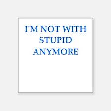 "no divorce Square Sticker 3"" x 3"""