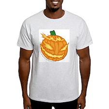 Flaming Jack o'lantern Ash Grey T-Shirt