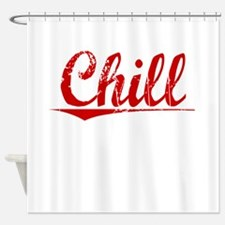Chill, Vintage Red Shower Curtain