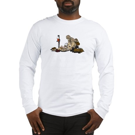 Wounded Warrior Support the Troops Long Sleeve T-S