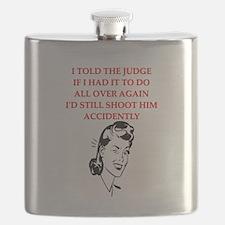 funny divorce divorced husband wife joke Flask