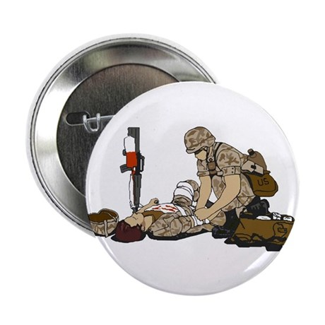 """Wounded Warrior Support the Troops 2.25"""" Button (1"""