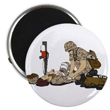 "Wounded Warrior Support the Troops 2.25"" Magnet (1"