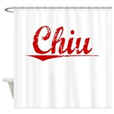 Chiu, Vintage Red Shower Curtain