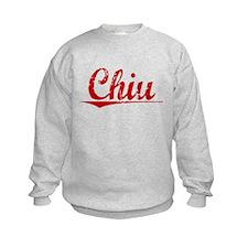 Chiu, Vintage Red Sweatshirt