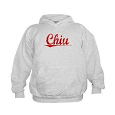 Chiu, Vintage Red Hoodie