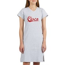 Cisco, Vintage Red Women's Nightshirt