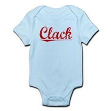 Clack, Vintage Red Infant Bodysuit