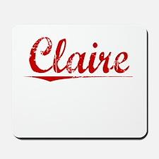 Claire, Vintage Red Mousepad