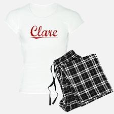 Clare, Vintage Red Pajamas