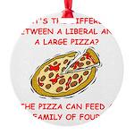 LIBERAL pizza Round Ornament
