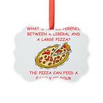 LIBERAL pizza Picture Ornament