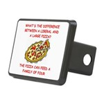LIBERAL pizza Rectangular Hitch Cover