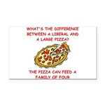 LIBERAL pizza Rectangle Car Magnet