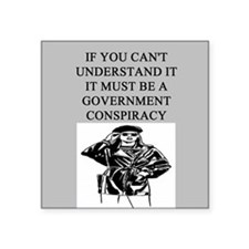 """CONSPIRACY1.png Square Sticker 3"""" x 3"""""""