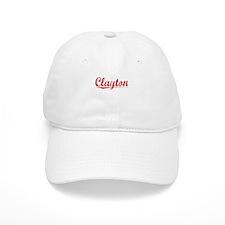 Clayton, Vintage Red Baseball Cap