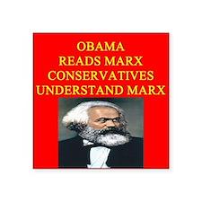 anti obama socialism gifts t-shirts Square Sticker