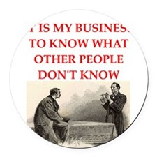 HOLMES2.png Round Car Magnet