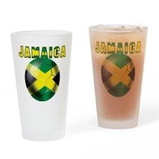 Jamaican Football Drinking Glass