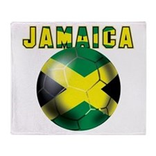 Jamaican Football Throw Blanket