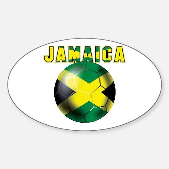 Jamaican Football Sticker (Oval)
