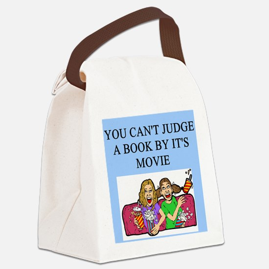 funny book books movie movies joke Canvas Lunch Ba