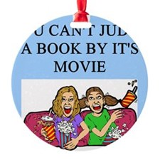 funny book books movie movies joke Ornament