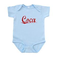 Coca, Vintage Red Infant Bodysuit