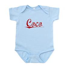 Coco, Vintage Red Infant Bodysuit