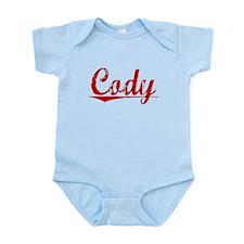 Cody, Vintage Red Infant Bodysuit