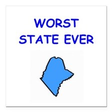 """MAINE.png Square Car Magnet 3"""" x 3"""""""