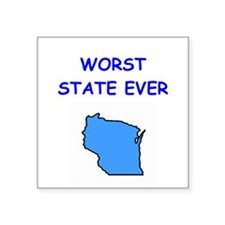 """WISCONSIN.png Square Sticker 3"""" x 3"""""""