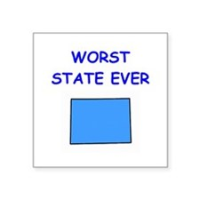 """WYOMING.png Square Sticker 3"""" x 3"""""""