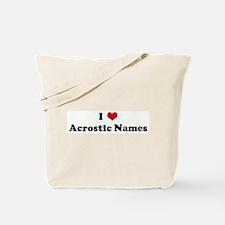 I Love Acrostic Names Tote Bag