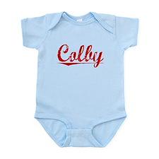 Colby, Vintage Red Infant Bodysuit