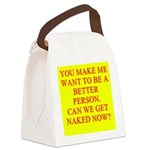 get naked Canvas Lunch Bag