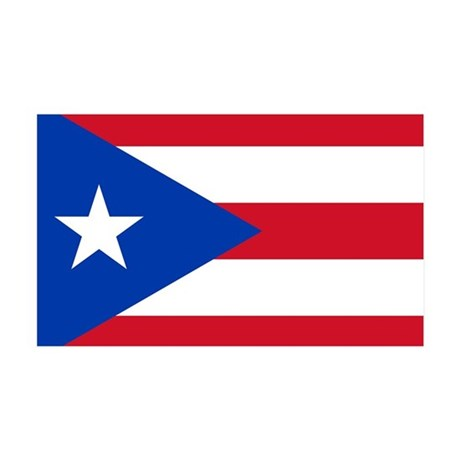 Puerto Rican Flag 35x21 Wall Decal