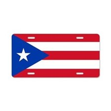 Puerto Rican Flag Aluminum License Plate