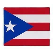 Puerto Rican Flag Throw Blanket