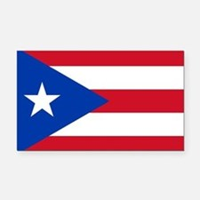 Puerto Rican Flag Rectangle Car Magnet