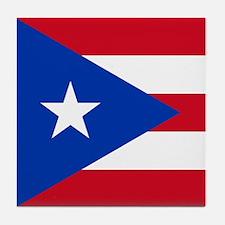Puerto Rican Flag Tile Coaster