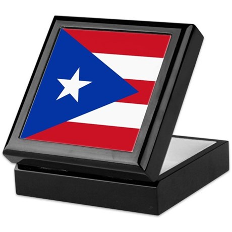 Puerto Rican Flag Keepsake Box