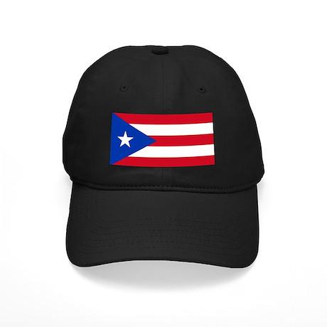 Puerto Rican Flag Black Cap