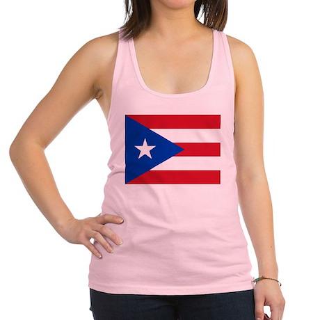 Puerto Rican Flag Racerback Tank Top