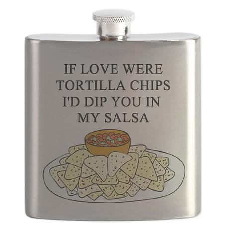 tortilla chips salsa sex joke Flask